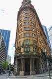 Tradycyjna dziedzictwo architektura i rocznika piaskowcowy fasadowy budynek Radisson placu Błękitny hotel Sydney obraz royalty free