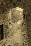 Tradycyjna grecka uliczna rocznik pocztówka Zdjęcia Royalty Free
