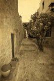 Tradycyjna grecka uliczna rocznik pocztówka Fotografia Stock