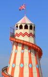 Tradycyjna helter skelter fairground przejażdżka Obrazy Royalty Free