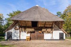 Tradycyjna Holenderska dom wiejski scena obraz stock