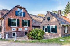 Tradycyjna Holenderska dom wiejski scena fotografia stock