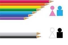 Tradycyjna i LGBT społeczność wektor ilustracji