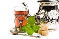 Tradycyjna język arabski mennicy herbata Zdjęcie Royalty Free