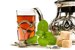 Tradycyjna język arabski mennicy herbata Obrazy Stock