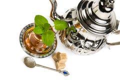 Tradycyjna język arabski mennicy herbata Obrazy Royalty Free