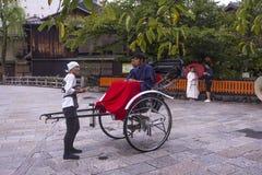 Tradycyjna Japońska riksza przejażdżka Obrazy Royalty Free