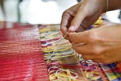 Tradycyjna jedwabnicza tkanina Obraz Royalty Free
