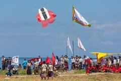 Tradycyjna kani rywalizacja przy Sanur plażą w Bali, Indonezja zdjęcie stock