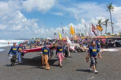 Tradycyjna kani rywalizacja przy Sanur plażą w Bali, Indonezja zdjęcia royalty free