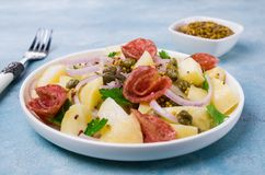 Tradycyjna kartoflana sałatka zdjęcie royalty free