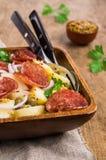 Tradycyjna kartoflana sałatka zdjęcie stock