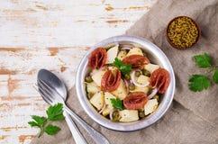 Tradycyjna kartoflana sałatka fotografia stock