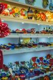 Tradycyjna kolorowa ręka malujący Hiszpański ceramiczny garncarstwo zdjęcia royalty free