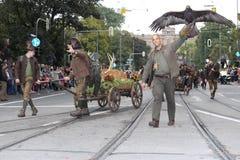 Tradycyjna kostiumowa parada w Monachium Bavaria Zdjęcie Stock
