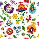 Tradycyjna ludowa kwiecista deseniowa ilustracja Fotografia Royalty Free