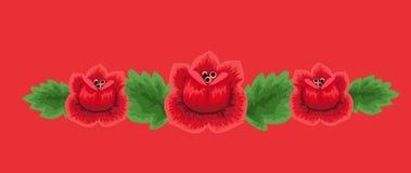 Tradycyjna ludowa kwiecista deseniowa ilustracja Zdjęcia Royalty Free