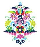Tradycyjna ludowa ornamentu Węgry kalocsai wektoru ilustracja Obraz Stock