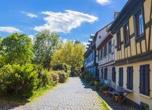 Tradycyjna Niemiecka ulica w Hoechst Zdjęcia Royalty Free