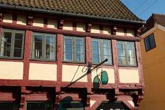 Tradycyjna połówka cembrujący drewniany domowy Niemcy Zdjęcia Royalty Free