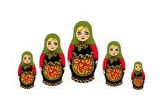 tradycyjna Rosyjska pamiątka gniazduje lale Zdjęcie Stock