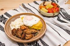 Tradycyjna Rumuńska kuchnia (tochitura) Fotografia Stock