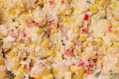 Tradycyjna sałatka z gotującymi warzywami z majonezem obrazy stock