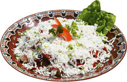 Tradycyjna sałatka z pomidorami, serem i pieprzami, Zdjęcie Royalty Free