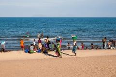 Tradycyjna sceneria przy Jeziornym Malawi Fotografia Stock