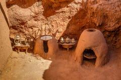Tradycyjna stara kuchnia w forcie Ait Ben Haddou Obraz Stock