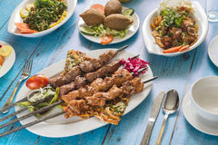 Tradycyjna Syryjska kuchnia, Kebab Obrazy Stock