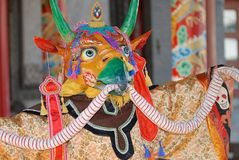 Tradycyjna szaman maska i kostium, Ulaanbaatar, Mongolia Obrazy Stock