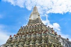 Tradycyjna Tajlandzka architektura Wat Arun Zdjęcie Stock