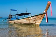 Tradycyjna tajlandzka długiego ogonu łódź Fotografia Royalty Free