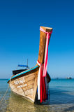 Tradycyjna tajlandzka długiego ogonu łódź Fotografia Stock
