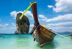 Tradycyjna tajlandzka długiego ogonu łódź Obraz Royalty Free