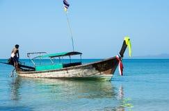 Tradycyjna tajlandzka długiego ogonu łódź Obraz Stock