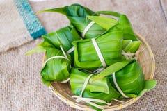 Tradycyjna Tajlandzka foodKhao Tom mata Obrazy Royalty Free