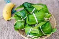 Tradycyjna Tajlandzka foodKhao Tom mata Obraz Stock