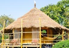 Tradycyjna Tajlandzka Pokrywająca strzechą buda Zdjęcie Royalty Free