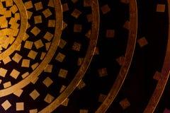 Tradycyjna Tajlandzka stylowa złocista obraz sztuka Obraz Stock