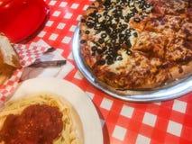 Tradycyjna Włoska Restauracyjna scena zdjęcia stock