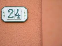 Tradycyjna włoszczyzna domu znaka deska malował na ceramicznej płytce Fotografia Royalty Free