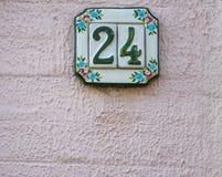 Tradycyjna włoszczyzna domu znaka deska malował na ceramicznej płytce Obraz Stock