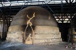 Tradycyjna węgiel drzewny fabryka, Sepetang, Malezja Obraz Stock