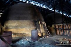 Tradycyjna węgiel drzewny fabryka, Sepetang, Malezja Obrazy Royalty Free