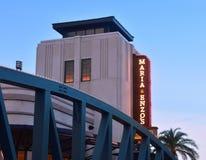 Tradycyjna Włoska restauracja przez most w Jeziornym Buena Vista, obrazy royalty free