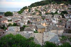Tradycyjna wioska Panagia z dennym widokiem, Thasos wyspa, Grecja (Thassos) Zdjęcie Stock