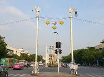 Tradycyjna wioska pokazuje a Zdjęcia Stock