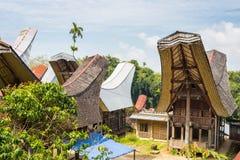 Tradycyjna wioska, Taniec Toraja Zdjęcia Royalty Free